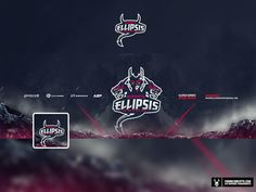 Mascot logo for Ellipsis Esports a gaming organization that travels and competes in events in the gaming industry.