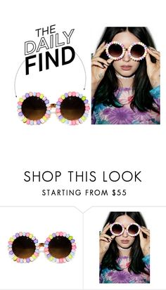"""The Daily Find: Rad + Refined Candyland Sunglasses"" by polyvore-editorial ❤ liked on Polyvore featuring Rad+Refined and DailyFind"