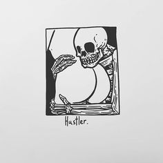 Hustler. Matt Bailey, Dark Drawings, Sugar Skull Art, Dope Art, Weird Art, Gothic Art, Body Art Tattoos, Sketches, Artwork