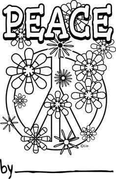 41 best Hippie Coloring Pages images on Pinterest | Coloring pages ...