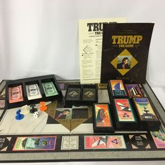 Trump The Game 1989 Milton Bradley Vintage Board Game Donald Trump Complete #MiltonBradley