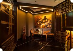 A state-of-the-art design admired by those with a taste of class. The cigar room at Kiza restaurant, conceptualized and designed by #TheFirstFerry.  #InteriorDesign #Artistry #Luxury #Cigar #Room