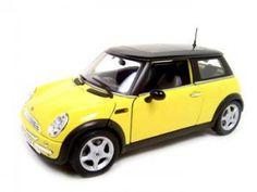 Yellow mini cooper.
