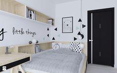 Mieszkanie w stonowanych barwach - Średni pokój dziecka dla chłopca dla dziewczynki dla nastolatka - zdjęcie od Illa Design