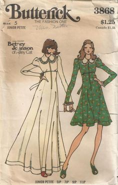 Vintage 70s Betsy Johnson for Alley Cat Maxi Length by Redcurlzs