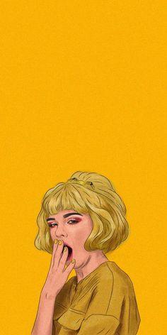 orange portrait illustration by shakira naé Wallpaper Pastel, Iphone Wallpaper Yellow, Cartoon Wallpaper Iphone, Mood Wallpaper, Cute Disney Wallpaper, Aesthetic Pastel Wallpaper, Iphone Background Wallpaper, Cute Cartoon Wallpapers, Power Wallpaper