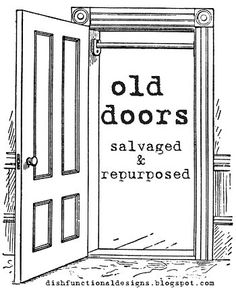 New Takes On Old Doors: Salvaged Doors Repurposed. Creative ideas in crafts and upcycled, innovative, repurposed art and home decor. Things you can make with old doors. DIY project ideas for recycled upcycled doors. Home Projects, Redo Furniture, Diy Projects To Try, Repurposed Furniture, Upcycle Door, Home Diy, Furniture Makeover, Salvaged Doors, Doors