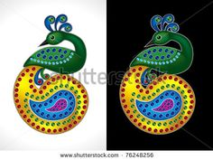 stock vector : Beautiful and Colorful Peacock Vector Illustration