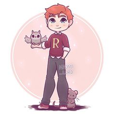 Ron Weasley by Naomi Lord Arte Do Harry Potter, Harry Potter Painting, Harry Potter Cartoon, Harry Potter Artwork, Cute Harry Potter, Harry Potter Drawings, Harry Potter Tumblr, Harry Potter Room, Harry Potter Pictures