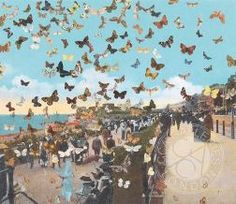 Homage to Damien Hirst: The Butterflyman Eastbourne by Sir Peter BLAKE Limited Edition Print...£3000