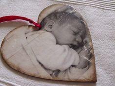 laatikko art: DIY Transfer na drewno przy pomocy medium. Prezent na Dzień Babci i Dziadka :)