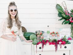 It's National Watermelon Day today and we have just the thing to beat the heat + inspire a fun wedding or bridal shower theme! The team behind this playful watermelon-inspired editorial – Oh What Joy Events, Brown Bunny Flowers + Ellie Koleen Photography – created a tropical modern paradise with funky pops of color (inspired by their fave summer fruit), a two-piece gown, […]