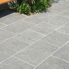 Possible hardscape treatment silver grey granite plank for Bath patio slabs