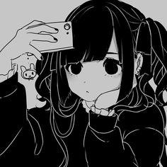 Grunge Black And White Anime Girl Aesthetic Manga Girl, Gothic Anime, Fan Art Anime, Anime Art Girl, Anime Girls, Dark Anime, Anime Chibi, Anime Style, Character Art