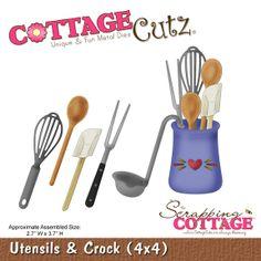 CottageCutz Utensils & Crock (4x4)             $19.95