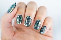 Shattered glass mani inspired by Park Eun Kyung, owner of ❤️ I went for a more dangerous look and this came out looking like real glass stuck to my nails☺️ ouch Shattered Glass, Natural Nails, Manicures, My Nails, Nailart, Nail Designs, Inspired, Park, Beauty