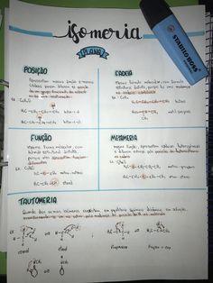 Resumo de Isomeria plana #resumos #isomeria #isomeriaplana #quimica #resumodequimica Stabilo Boss, Life Hacks For School, Lettering Tutorial, Studyblr, Study Notes, Chemistry, D1, Learning, Blog