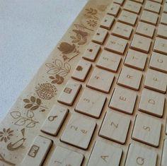 Handcrafted Wireless Wooden Keyboard by Oree