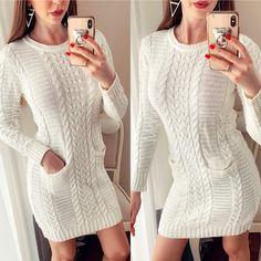 rochii de iarna tricotate pret rochii de iarna tricotate ieftine Cauta acum Haine online ieftine si de firma din magazinele online de haine! Sweaters, Dresses, Fashion, Tricot, Vestidos, Moda, Fashion Styles, The Dress, Sweater