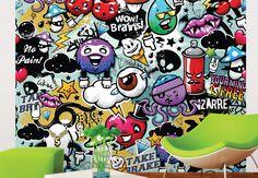 Graffiti Monster Wall Mural
