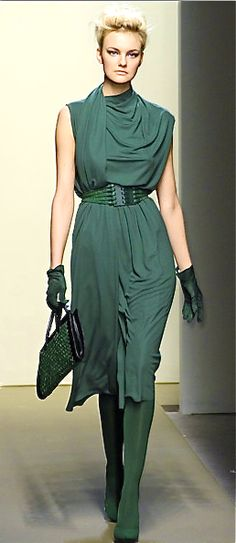 Botega Veneta .. this would go great with my redhair and green eyes!  Barbara