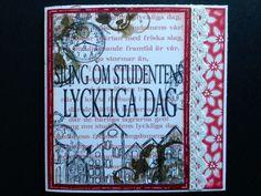 Studentkort Graduation card by DT Linda S  http://blog.pysseldags.com/2013/06/studentkort-med-6-olika-stamplar.html http://shop.pysseldags.se