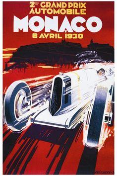 Grand Prix De Monaco 1930 Fine Art Giclee Print