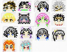 Fuse Beads, Perler Beads, Anime Pixel Art, Anime Crafts, Melting Beads, Cross Stitch Art, Beading Patterns, Arts And Crafts, Diy Crafts