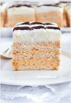 Toffee, Polish Recipes, Polish Food, Breakfast Menu, Homemade Cakes, Cream Cake, Cake Cookies, Vanilla Cake, Cake Recipes