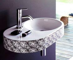modern bathroom furniture, sinks, wall mirrors and bathroom lighting Bathroom Sink Design, Small Bathroom Sinks, Bathroom Interior Design, Modern Bathroom, Bathroom Ideas, Feng Shui, Washbasin Design, Modern Sink, Buying A New Home