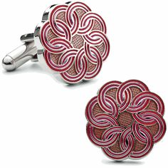 These bright Linked Circle Cufflinks are a lively accent to your ensemble.  by Cufflinksman