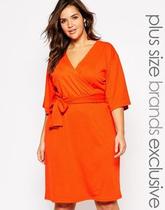 Plus Size Kimono Sleeve Dress