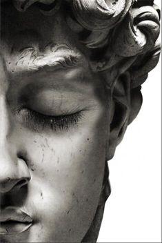 Black & White Half Face Sculpture Art Duo - 60X80CM NO FRAME / PF 507
