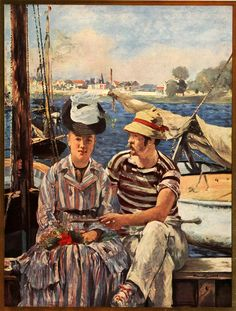 1937 Print Edouard Manet Argenteuil Les Canotiers Boating Party France Boats