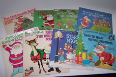Lot of 8 Vintage Children's Christmas Records by LizzieTishVintage, $16.00