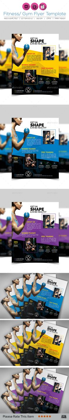 Fitness/Gym Flyer Template V7 - Corporate Flyers