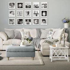 gray and taupe living room outlet grey with photo display home decor 41 totally chic wall ideas ashleys furniture shabby