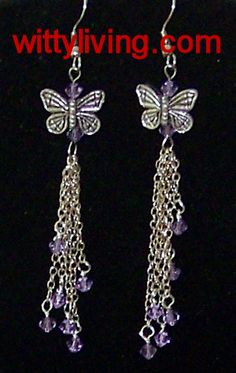 beaded butterfly earrings tutorial