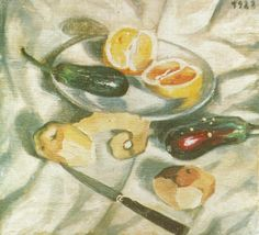 Still Life with Aubergines 1922