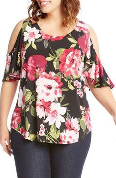 COLD SHOULDER FLORAL WITH JEANS - 50 IS NOT OLD