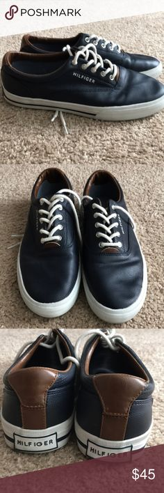 Tommy Hilfiger Shoes (Leather) Like New! Lightly worn! Tommy Hilfiger Shoes Sneakers