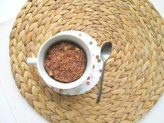appeltaart mugcake Lunch Snacks, Oatmeal, Keto, Breakfast, Tableware, Food, Baking, The Oatmeal, Morning Coffee