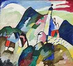 Wassily Kandinsky, Murnau with Church II (1910). Oil on canvas