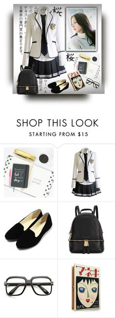 """""""Japanese school uniform"""" by barbara-gennari ❤ liked on Polyvore featuring Michael Kors and Olympia Le-Tan"""