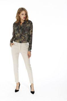 Pantalone Mason's donna modello New York in raso superstretch - Masons