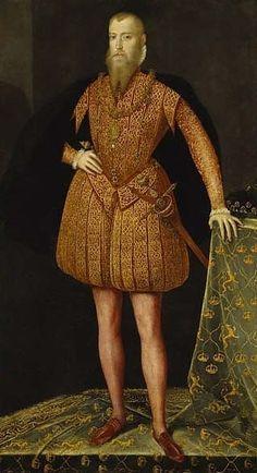 Erik XIV, king of Sweden (Steven van der Meulen) - Nationalmuseum 16th Century Fashion, 18th Century, Renaissance Portraits, Landsknecht, Renaissance Men, Renaissance Clothing, Elizabeth I, Knights Templar, Prints
