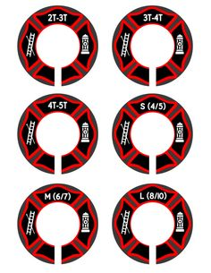 Toddler Closet Dividers Fire Engine Nursery by MoonLitPrintables