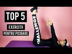 TOP 5 EXERCITII PENTRU PICIOARE / SLIM LEGS WORKOUT [HD] - YouTube Slim Legs Workout, Youtube Comments, Top 5, Sport, Fitbit, Thin Legs Workout, Deporte, Sports