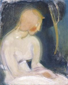 Helene Schjerfbeck Saunan edessä Helene Schjerfbeck, Woman Painting, Figure Painting, Painting & Drawing, Portrait Art, Portraits, Helsinki, Female Painters, Body Drawing