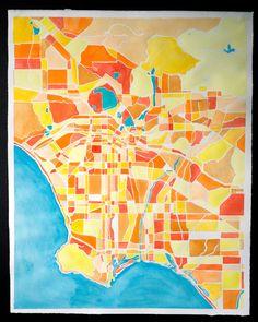 Los Angeles watercolor no. 1
